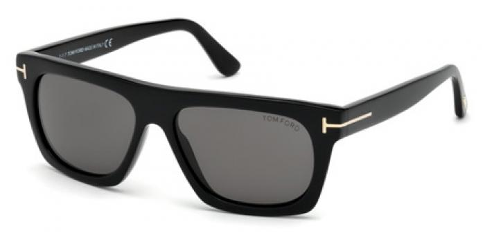 Gafas de sol Tom Ford FT0592 ENRESTO 01A negro brillo / gris