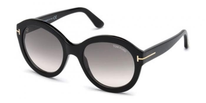 Gafas de sol Tom Ford FT0611  01B negro brillo / gris