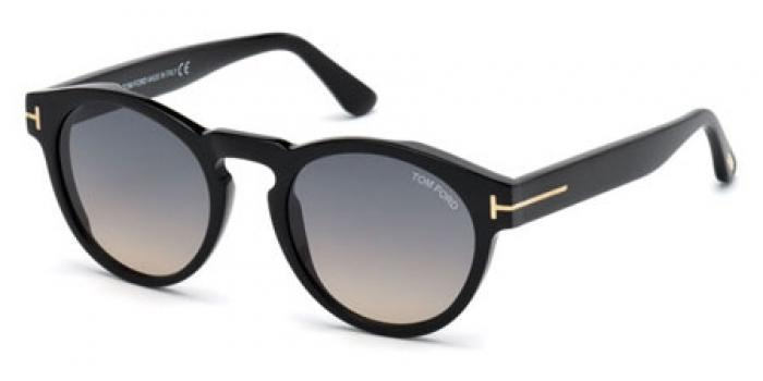 Gafas de sol Tom Ford FT0615 MARGAUX 01B negro brillo / gris