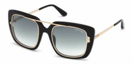Gafas de Sol Tom Ford FT0619 01B negro brillo / gris