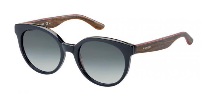 Gafas de sol Tommy Hilfiger TH 1242/S 1JK (HD) BLUE/HAVANA WOOD / GREY SHADED