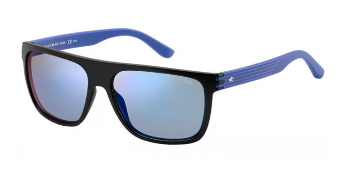 Gafas de sol Tommy Hilfiger TH 1277/S FB1 (23) BLACK/BLUE / BLUE MIRROR