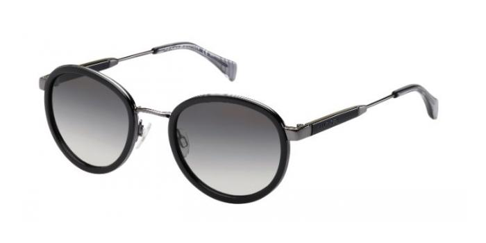 Gafas de sol Tommy Hilfiger TH 1307/S KKL (EU) BLACK/DARK RUTHENIUM / GREY SHADED