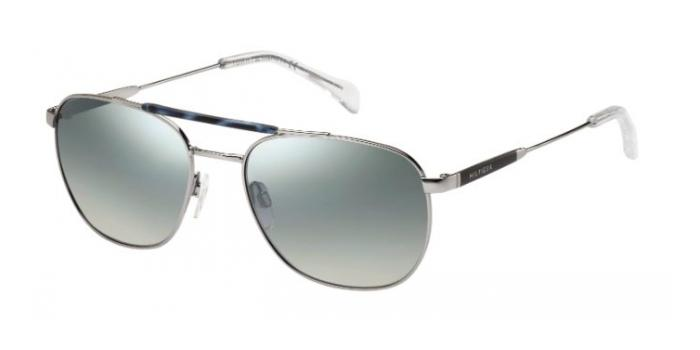 Gafas de sol Tommy Hilfiger TH 1308/S Z64 (89) RUTHENIUM / GREY SILVER FLASH