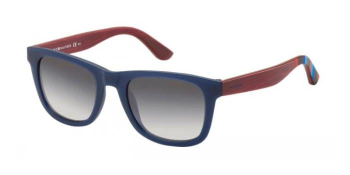 Gafas de sol Tommy Hilfiger TH 1313/S X2D (EU) BLUE/RED WOOD / GREY SHADED
