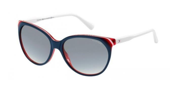 Gafas de sol Tommy Hilfiger TH 1315/S VN5 (JJ) BLUE/RED/WHITE / GREY SHADED