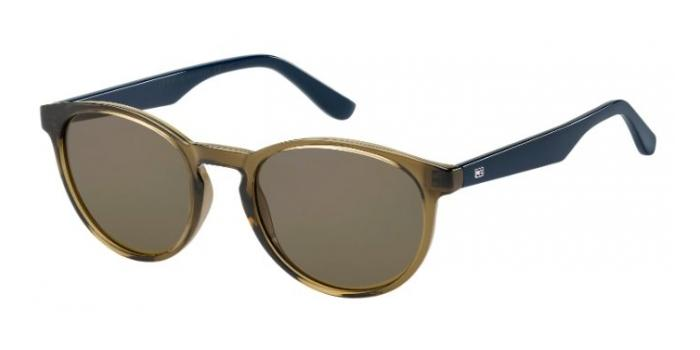 Gafas de sol Tommy Hilfiger TH 1485/S 4C3 (70) OLIVE / BROWN