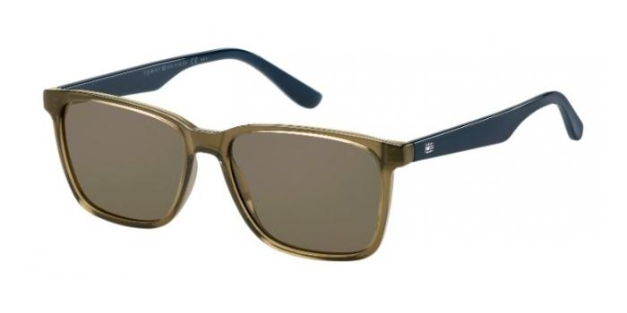 Gafas de sol Tommy Hilfiger TH 1486/S 4C3 (70) OLIVE / BROWN