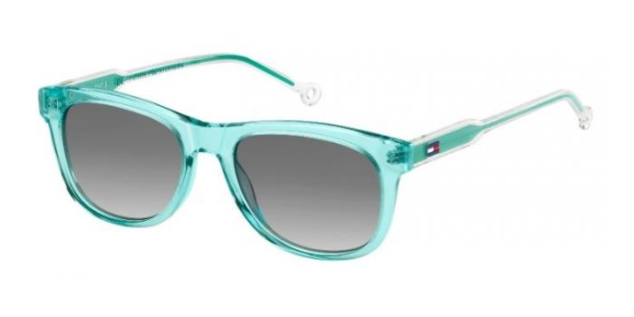 Gafas de sol Tommy Hilfiger TH 1501/S 5CB (9O) AQUA / DARK GREY SF