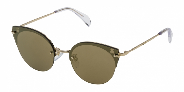 Gafas de sol Tous STOA09 300G SHINY ROSE GOLD-BROWN/MIRROR GOLD