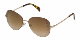 Gafas de Sol Tous STO360 300G SHINY ROSE GOLD-BROWN GRADIENT/MIRROR GOLD