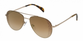 Gafas de Sol Tous STO361 300G SHINY ROSE GOLD-BROWN GRADIENT/MIRROR GOLD