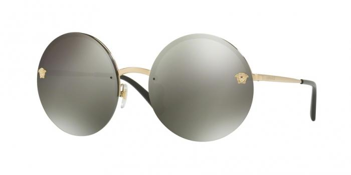 Gafas de sol Versace VE2176 12524T PALE GOLD - DARK GREY MIRROR LIGHT GOLD