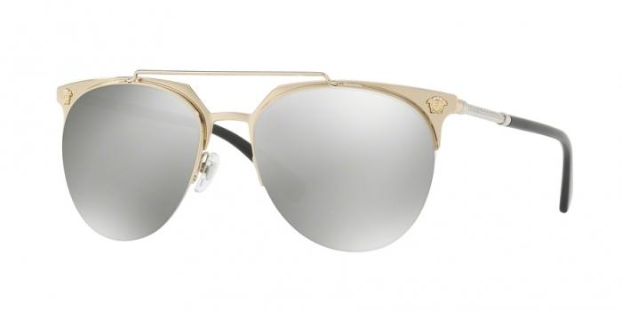 Gafas de sol Versace VE2181 12526G PALE GOLD - LIGHT GREY MIRROR SILVER