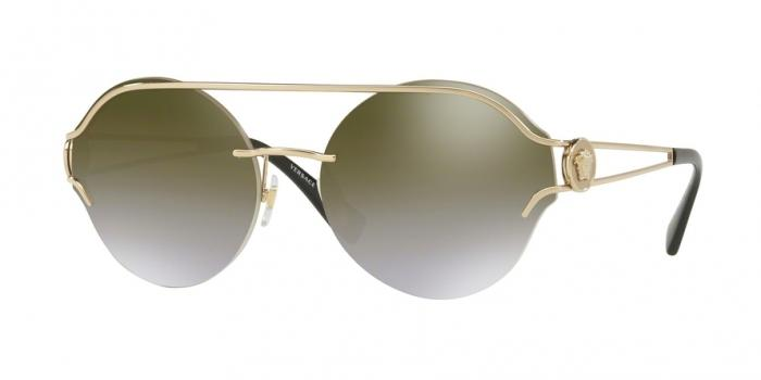 Gafas de sol Versace VE2184 12526U PALE GOLD - GRADIENT BROWN MIRROR GOLD