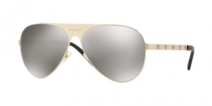Gafas de sol Versace VE2189 13396G BRUSHED PALE GOLD - LIGHT GREY MIRROR SILVER