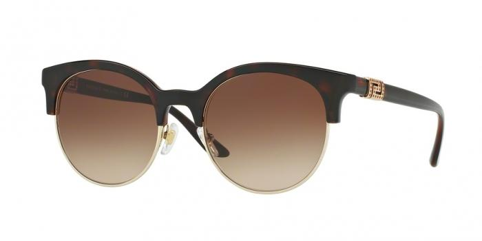 Gafas de sol Versace VE4326B 521213 HAVANA/PALE GOLD - BROWN GRADIENT