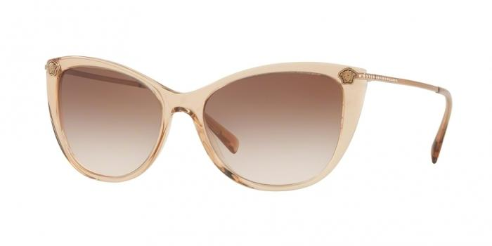 Gafas de sol Versace VE4345B 521513 TRANSPARENT LIGHT BROWN - BROWN GRADIENT