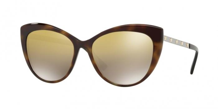 Gafas de sol Versace VE4348 52697I DARK HAVANA - BROWN MIRROR GOLD GRAD