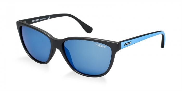 Gafas de sol Vogue VO2729 W44/55 MATTE BLACK - DARK BLUE MIRROR BLUE