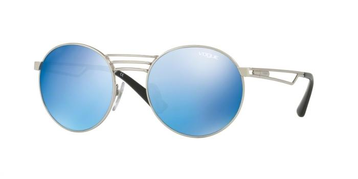 Gafas de sol Vogue VO4044S 323/55 BRUSHED SILVER - BLUE MIRROR BLUE