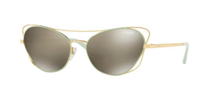 Gafas de sol Vogue VO4070S 50655A GOLD/GREEN - LIGHT BROWN MIRROR DARK GOLD