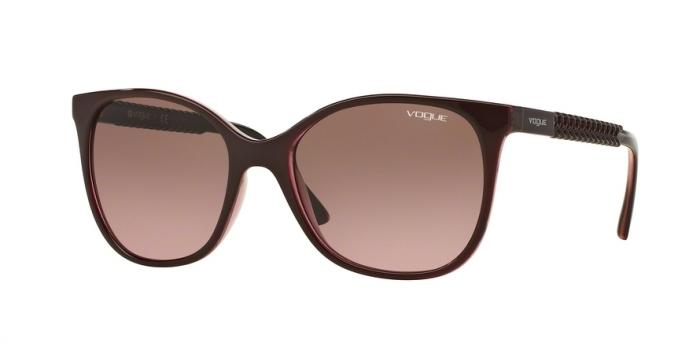 Gafas de sol Vogue VO5032S 226214 TOP BORDEAUX/GLITTER PINK - PINK GRADIENT BROWN